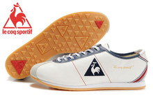 Le Coq Sportif Men's Running Shoes,High Quality Cow Leather Upper Le Coq Sportif Men's Athletic Shoes Sneakers White/Navy 6
