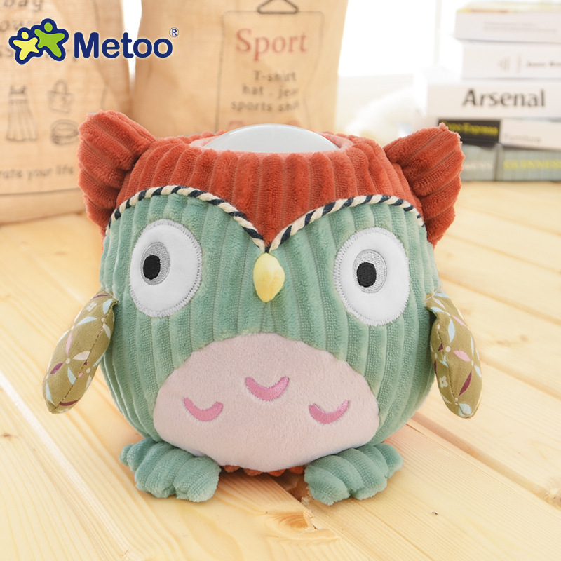 Metoo Kawaii Plush Toy Pat Lamp Light Doll Kids Novelty LED Night Light Toy Chubby Animal Stuffed Plush Doll Toys for Children(China (Mainland))