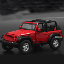 Alloy Jeep car model toy Off-road vehicle with music and Led light pull back car toy for kids
