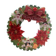 Christmas Rattan Paper Wreaths Decorations Rings Shopping Bars Christmas Decorations Decoracion Navidad #30(China)