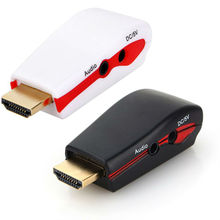 1080P HDMI to VGA Video Converter Adapter Male To Female USB Power Audio Cable For PC HDTV
