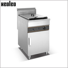 Xeoleo Commercial Fryer 48L+48L Gas French fries machine Stainless steel Potato chip machine Double tanks Chicken Fryer for KFC(China)