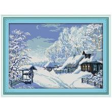 Посреди зимы Счетный крест 11 14CT вышивки крестом Пейзаж Вышивка крестом Наборы для Вышивка Домашний декор рукоделие(China)