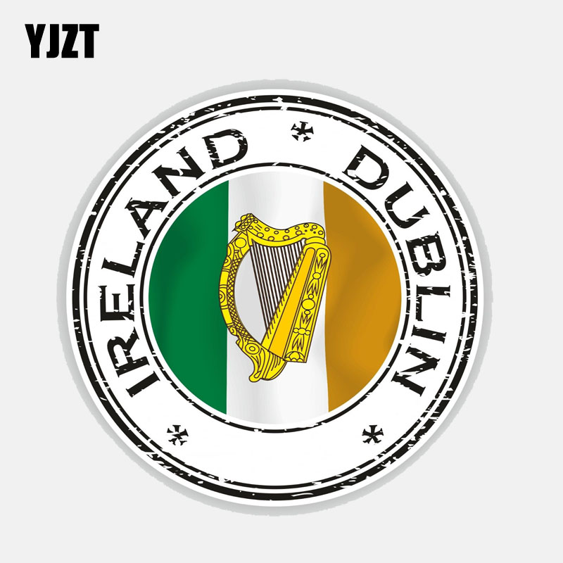 Ireland Decal Irish Flag Car Chrome Emblem Sticker