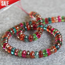 Fashion Transparent Colorful Cut Beads 6X8mm Abacus Shape Stone 15inch Semi-finished Necklace High-quality Jewelry Accessories