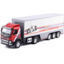 High simulation 1:32 scale alloy Container semi, engineering car, Volvo truck, original packaging gift box(China)