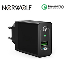 NORWOLF USB Phone turbo Charger 18W Quick Charge 3.0 QC 2.0 EU US UK Fast for Samsung Galaxy S7 Edge Xiaomi Mi5 Charger(China)