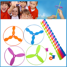 4pcs/set Outdoor Toy Flying Saucer Flying Toys Kids Toys Disc Frisbee Ring Toy Hand Controlled UFO Plastic Teambuilding Tool Boy(China)