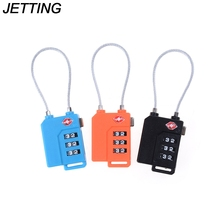 JETTING 1PCS High Quality Resettable 3 Digit Combination Travel Luggage Suit Code Lock Padlock 3 Colors(China)