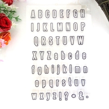 scrapbooking supplies alphabet stamp clear stamps for card making(China)