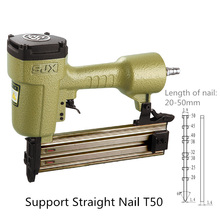 T50 Pneumatic Straight Nail Gun Support Nail Length 20-50mm for Furniture Wood Bamboo Fixed