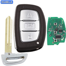 3 Button New Style Replacement Smart Car Key Fob Remote Full Complete Key 433MHZ 46 Chip For Hyundai Elantra with Uncut Blade(China)