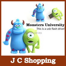 E-DREAM Wholesale cheap Cartoon Monsters University model 4GB 8GB 16GB 32GB USB Flash Drive Thumb/Car Pen drive Personality Gift