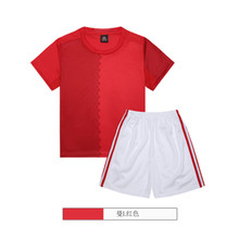 New Quick-drying fabric Football Suits Kids Soccer Uniform 2017 Summer Wear Short-sleeved Shirt Boy Set Children's Clothing Set