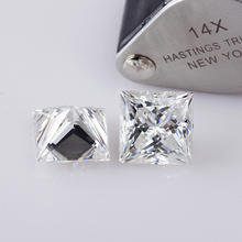 Clear white lab-created diamonds 9*9mm princess cut DEF color synthetic moissanites loose gem stone for jewelry making