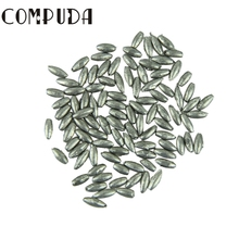 Dynamic Free Shipping 100pcs Fish olive shaped lead sinker 0.05g plummet lead sinker 6.5mm Unique design Light weight Aug26