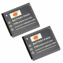 DSTE 2PCS KLIC-7001 Rechargeable Battery for KODAK V550 V570 V610 V705 M753 M763 M853 M863 M893 M1063 Camera