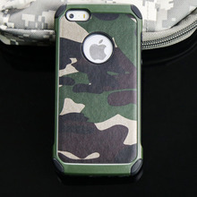 Army Camo Camouflage Pattern back cover for iphone 5 Hard Plastic Soft Armor protective phone case for iPhone 5 5s se case(China)