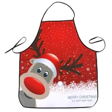 Fashion Design Apron Kitchen Cooking Baking Chef Waterproof Dinner Party Christmas Decoration Santa Apron Home Supplies 12Colors