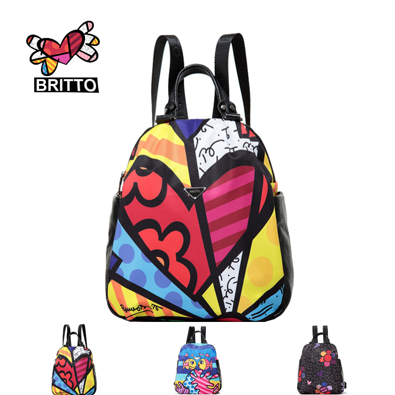 Purchase BRITTO Cartoon Graffiti Backpack Leisure Laptop School Bags Travel Shoulder Bag  For Teenagers Printing Backpacks <br><br>Aliexpress