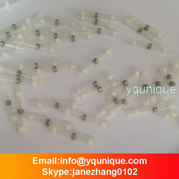 200pcs Solder Splices Seal Connector  Waterproof Heat Shrink terminal AWG 26-24 White<br>