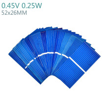 100Pcs Solar Panel China Painel Solar Polycrystalline Silicon Placa Solar DIY Panneau Solaire Solar Cells 52x26MM 0.45V 0.25W