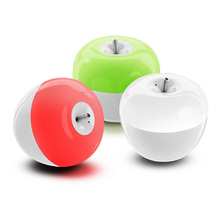 Blowing cute apple bedroom bedside night light USB ambient light colorful color dimming LED rechargeable lamp(China)
