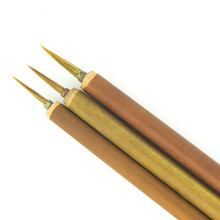 New 1 Pc Weasel Acrylic Nail Art Brush Liner Pen Painting Delicate Bamboo Handle Drawing Nails Tool Fingernail Brushes(China)