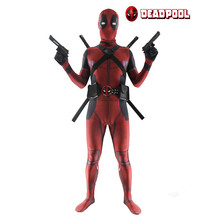 Deadpool Costume Unisex Lycra Spandex Zentai 3D Printed Bodysuit Halloween Funny Adult/Kids Supplies with Clothing & Accessories