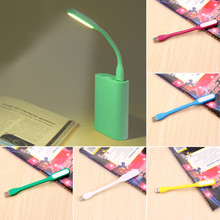 Flexible USB LED Book Light Desk Reading Lamp Camping Flashlight Night Lights for PC Mobile Power Charge Notebook Computer