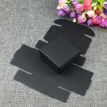 500pcs/lot Retro black Paper Gift Package Boxes Party Chocolate Vintage Small Craft Paper Box