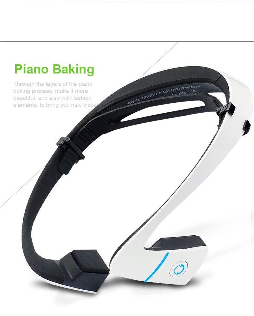 24hours shipment! LF-18 Bluetooth Bone Conduction Speakers Wireless Stereo Headset Sports Headphone For Running black&amp; white<br>