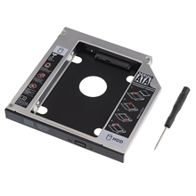 Elisona 2nd 2.5Inch HDD SSD Hard Drive Disk Caddy Case Adapter Enclosure 12.7mm SATA to SATA for DVD CD-ROM Optibay