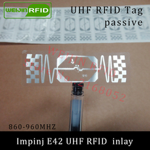 UHF RFID tag Impinj E42 dry inlay 915mhz 900mhz 868mhz 860-960MHZ  EPCC1G2 ISO18000-6C smart card passive RFID tags label