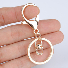 High Quality Fashion Gold Silver Key Chains Ring DIY Jewelry Making Accessaries Parts Bag Charms Car Keyring Keychain Trinket(China)