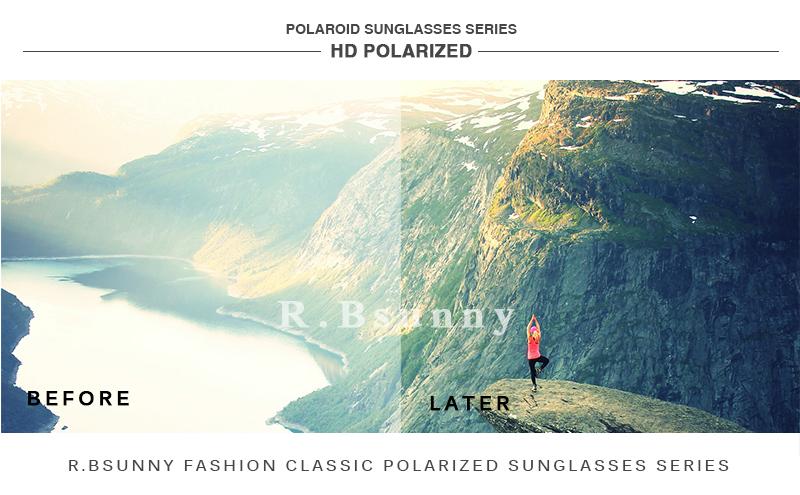 Fashion women sunglasses High quality classic brand polarized HD men sunglasses Driving Anti-glare UV400 Goggle R.Bsunny R1616 8