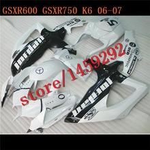 - black+ white A GSX R600 R750 0607 Motocycle Accessories GSXR 600 750 GSXR600 GSXR750 GSXR600 Fairing Kit BBF(China)