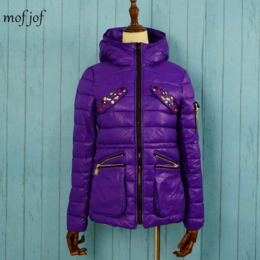Winter jacket women warm coat with crystal hoodie coatОдежда и ак�е��уары<br><br><br>Aliexpress