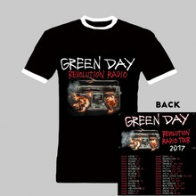 Punk Rock Green Day T Shirt Green Day Revolution Radio 2017 Concert Tour New Fashion Brand Vintage Black T-Shirt Tops Man Women(China)