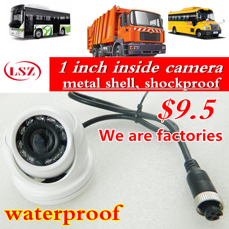 Car Rear View ccd Camera Reverse Backup Camera Rearview Parking 120 Degree  IR Nightvision Waterproof  Bus Truck Camera factory<br>