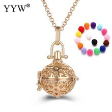 YYW Flower Pattern Lovely Perfume Aromatherapy Pendant Essential Oil Diffuser Pregnant Ball Locket Cage Pendant Women's Gift(China)