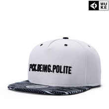 2017 Hot style letter embroidery cap white cap flat top hat sliding plate baseball cap Hip Hop Cap suitable for men and women ca(China)