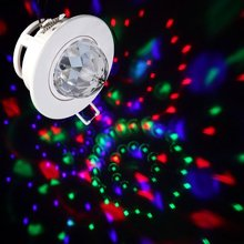 FSLH LED RGB Ceiling Stage Light 3W Full Color Automatic Voice-activated Rotating Lighting DJ Disco Club Party Bars Lamp Lights