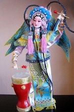 Decoration Arts crafts girl gifts get married Shipping Chinese Beijing silk Doll * Liang Hongyu * Peking Opera features gift gif(China)