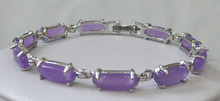 Selling 2 choices wholesale high quality /silver plated inlay purple AAA Bracelet fashi(China)