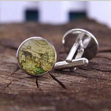 Map cufflinks custom vintage maps. Select two locations. Anywhere in the world. Wedding cufflinks Groom. best man. personalized