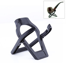 Unique Foldable Stand Smoking Pipe Tobacco Plastic Cigar Pipes Rack Holder Black