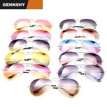 2018 Fashion Metal Aviator Sunglasses Women Men Double Colors Ocean Lenses Pilot Sunglasses Unisex Gold Frame Red Blue Lenses