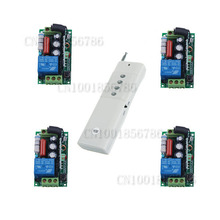 3000M Long Range Remote Control Switch System 220V RF 4 Receivers+1Transmitter Through Wall For LED Light Lamp(China)