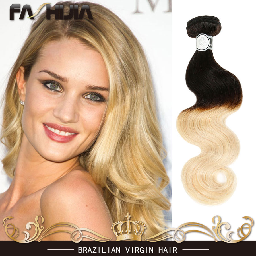 Ombre Brazilian Hair 1b 613 Body Wave Wet And Wavy Virgin Brazilian Hair Body Wave Cheap Human Hair Dark Honey Blonde Weave soft<br><br>Aliexpress